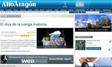 2015-03-05 Diario del Alto Aragón