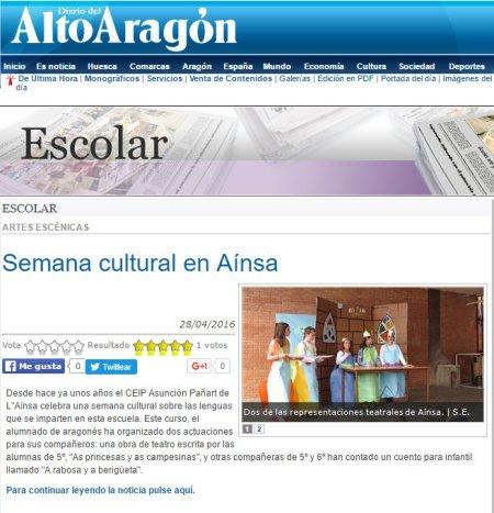 2016-04-28 Diario del Alto Aragón